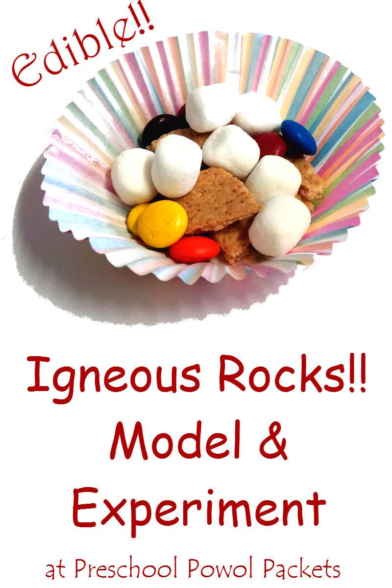 Edible Igneous Rocks Model Science Experiment | Preschool ...