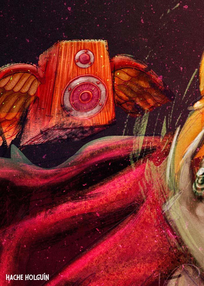 Ilustración, Melomanía por Hache Holguín