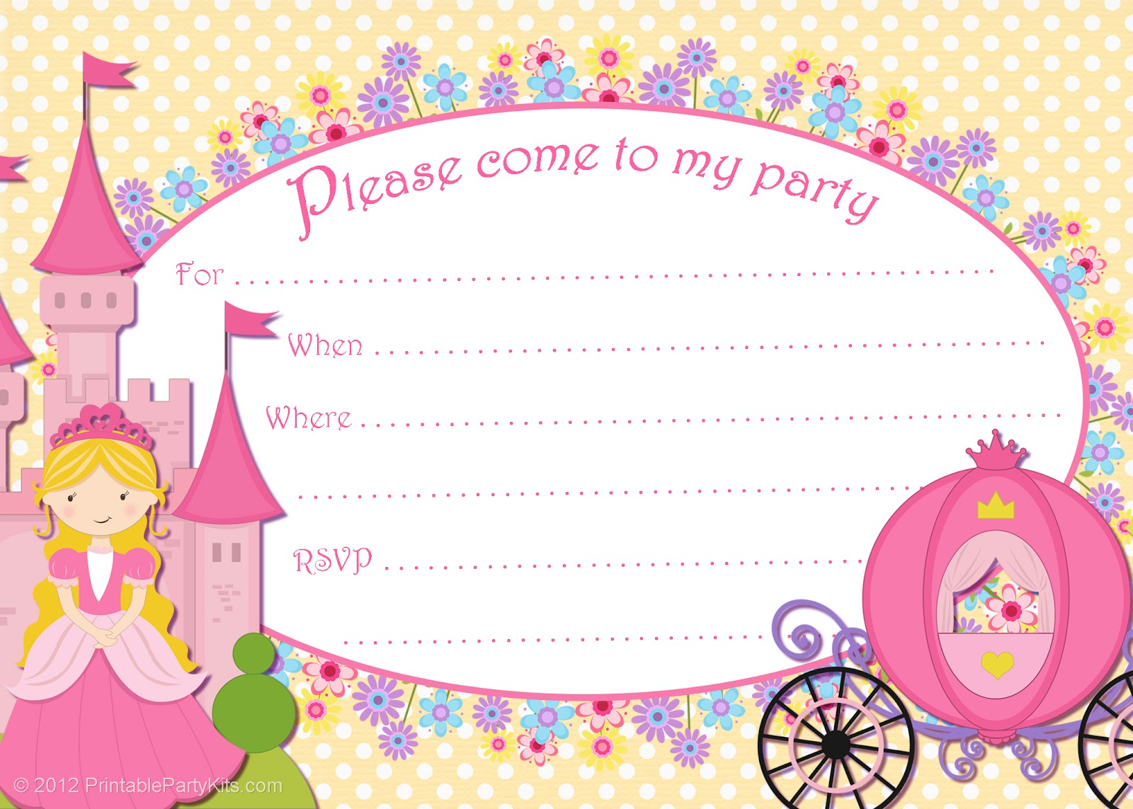 Free Printable Party Invitations: Free Printable Cinderella Party ...