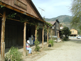 Photo from 2006 of Paramount Ranch Western Town movie set.