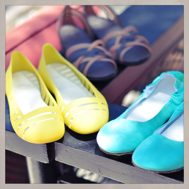 cute bright summery shoes, crocs