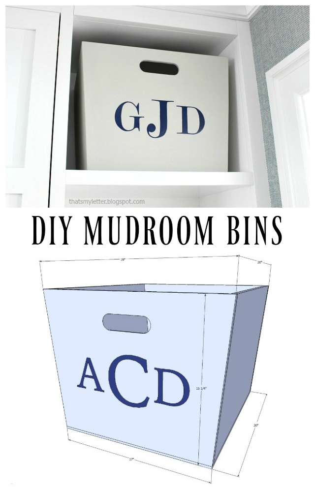 diy mudroom bins free plans