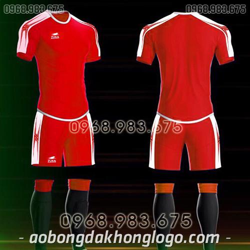 Áo bóng đá ko logo Zuka Basix màu đỏ