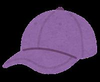 野球帽のイラスト(紫)