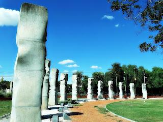 Totens de Pedra no Museo Área Fundacional, Cidade de Mendoza