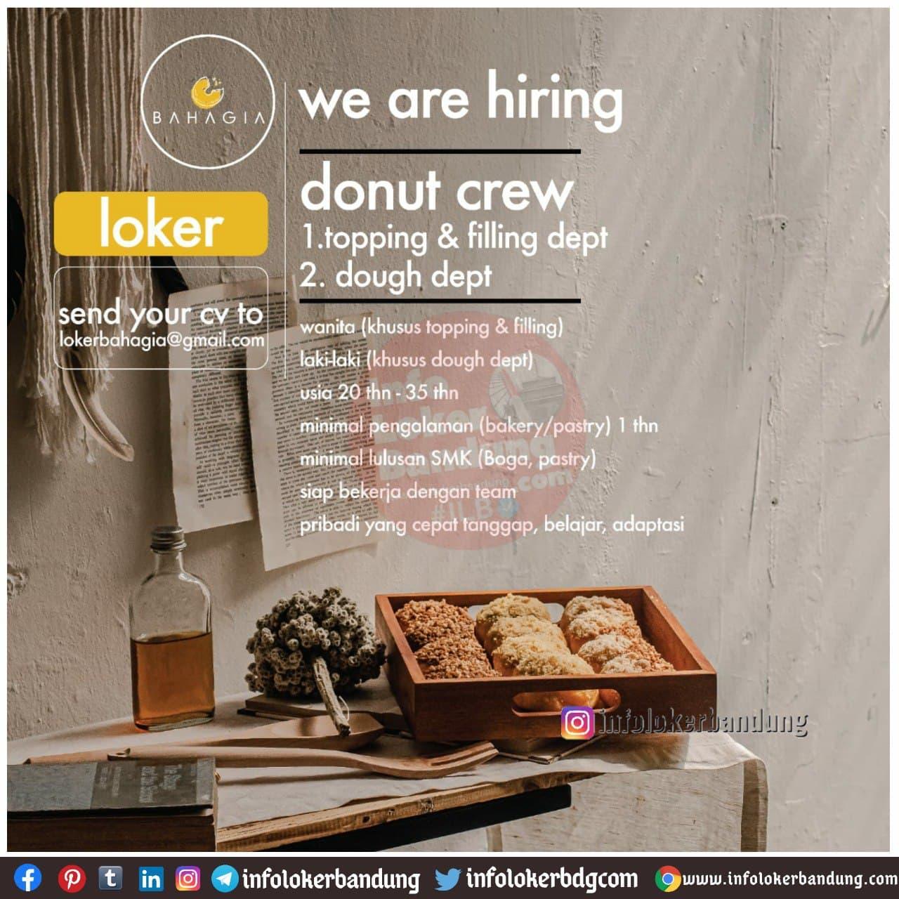 Lowongan Kerja Donut Crew Donat Bahagia Bandung Januari 2021