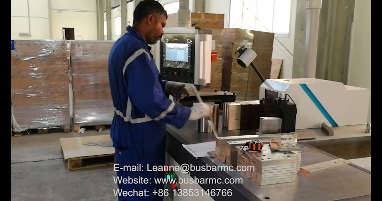 hydraulic busbar cutting machine