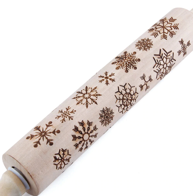CHRISTMAS EMBOSSING ROLLING PIN[Home & Kitchen]