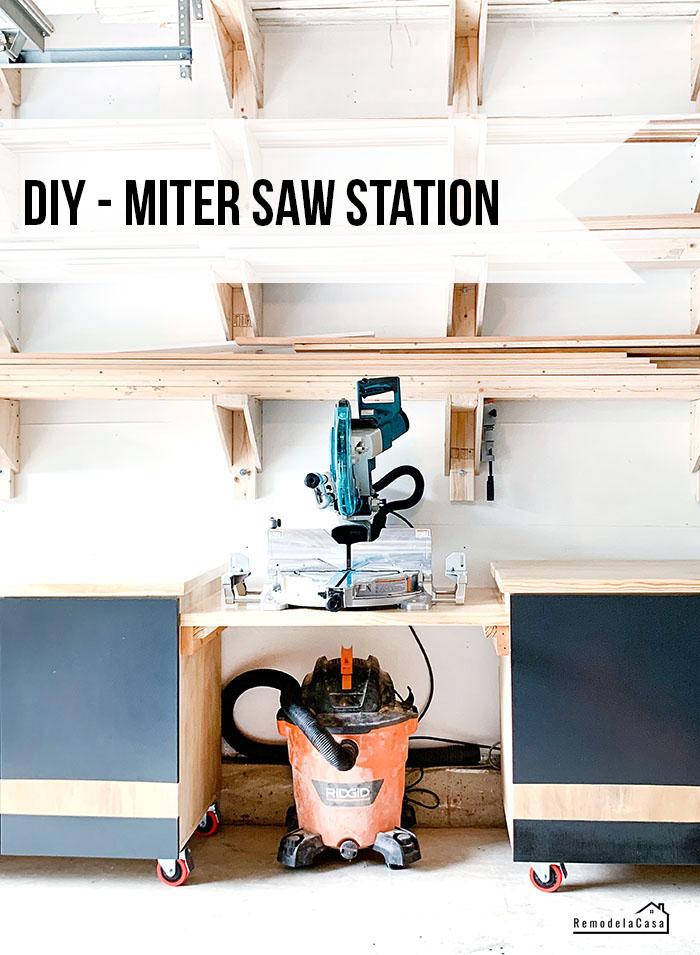 Makita miter saw - garage organization