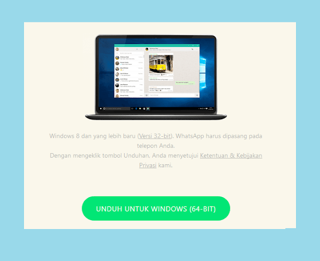 WhatsApp di Laptop Dengan Aplikasi WhatsApp Dekstop