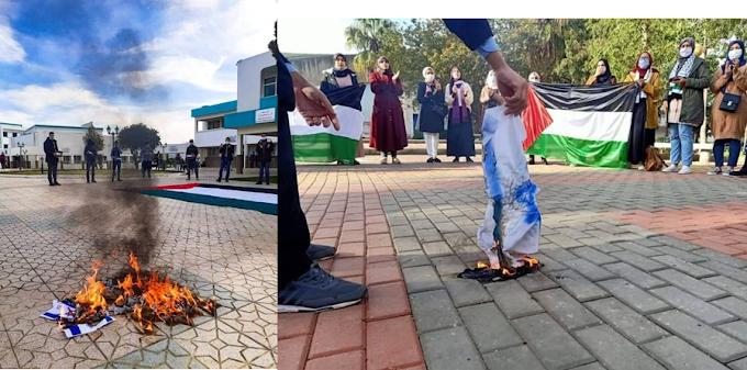 🔴 Protestas en Casablanca y Rabat con quema de banderas denunciando la normalización con Israel.