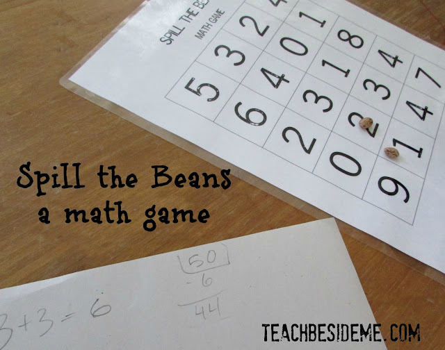 spill the beans math game