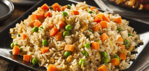 وصفة الأرز الصيني مع الخضار