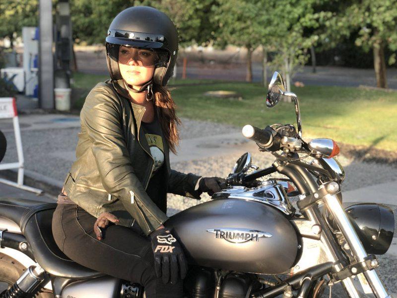La mala suerte de Priscilla Vargas  con su joyita motoquera