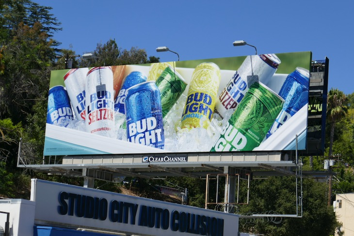 Bud Light ice cooler billboard