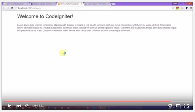 tutorial integrasi codeigniter bootstrap