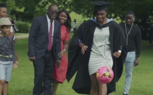 Female footballer Ini Umotong of Super Falcons graduates with 1st Class in England