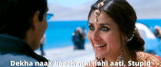 Dekha naak beech mai nahi aati, stupid | 3 idiots meme templates