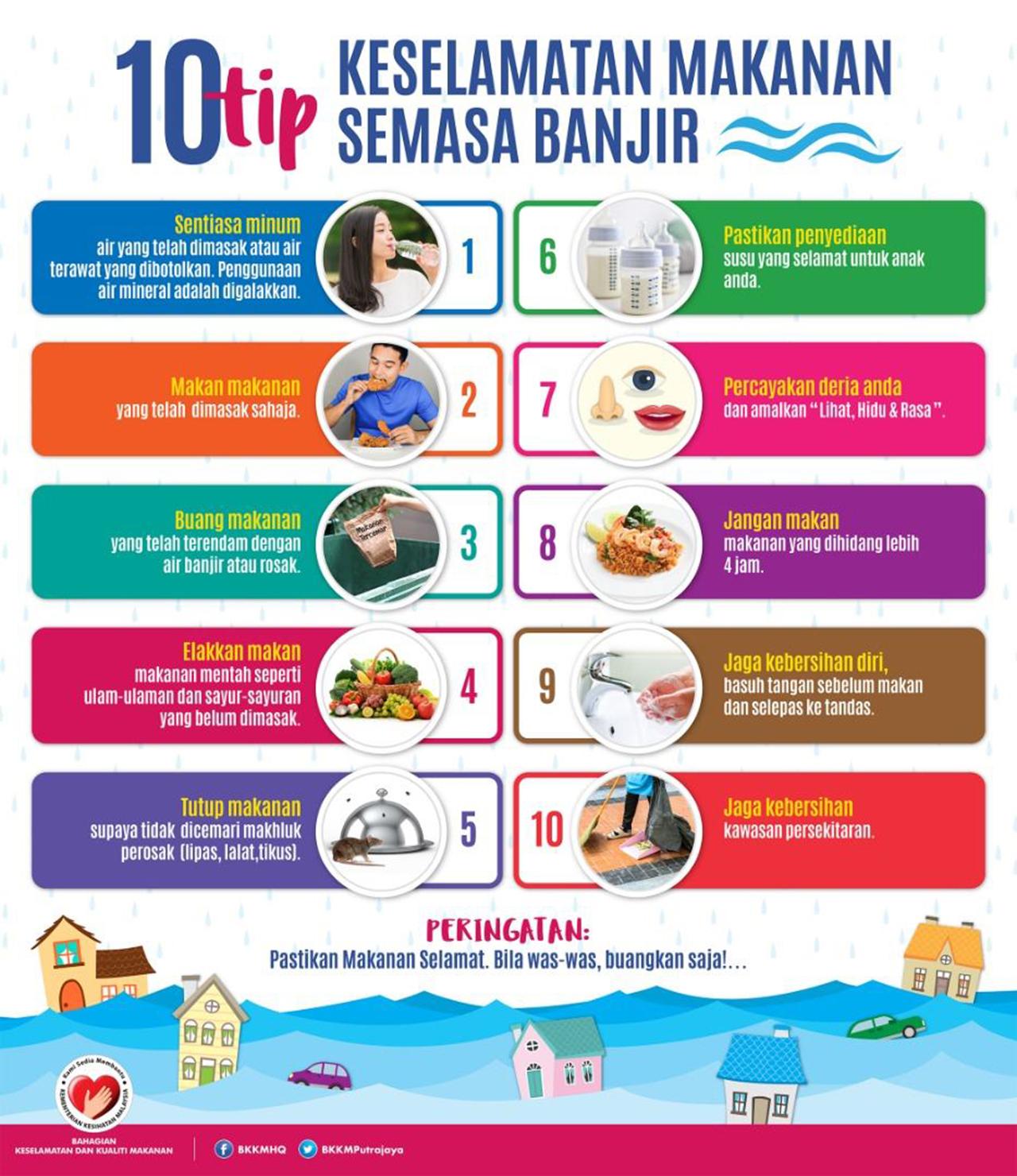 10 Tip Keselamatan Makanan Semasa Banjir