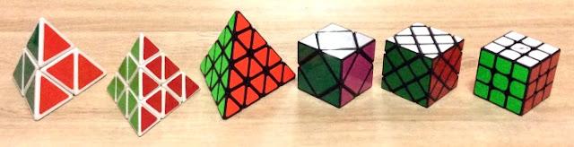 keluarga rubik pyraminx cubes