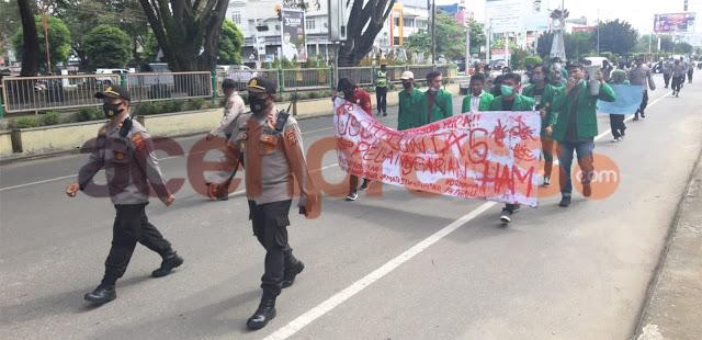 Polres Lhokseumawe Kawal Aksi Peringatan Hari HAM Sedunia