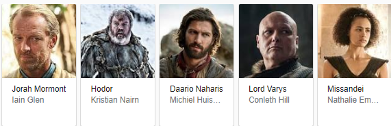thrones characters
