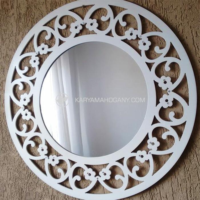Cermin Hias Putih Murah | Jual Cermin Minimalis Murah