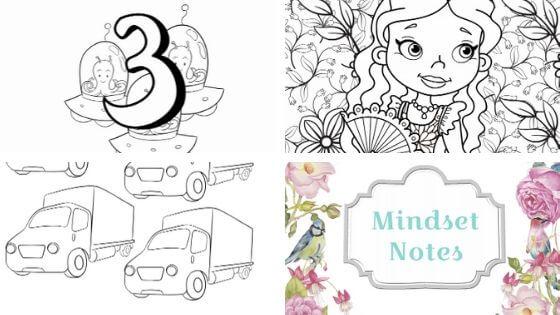 Coloring Pages For Boys And Girls [Cars, Space, Princesses and Unicorns]