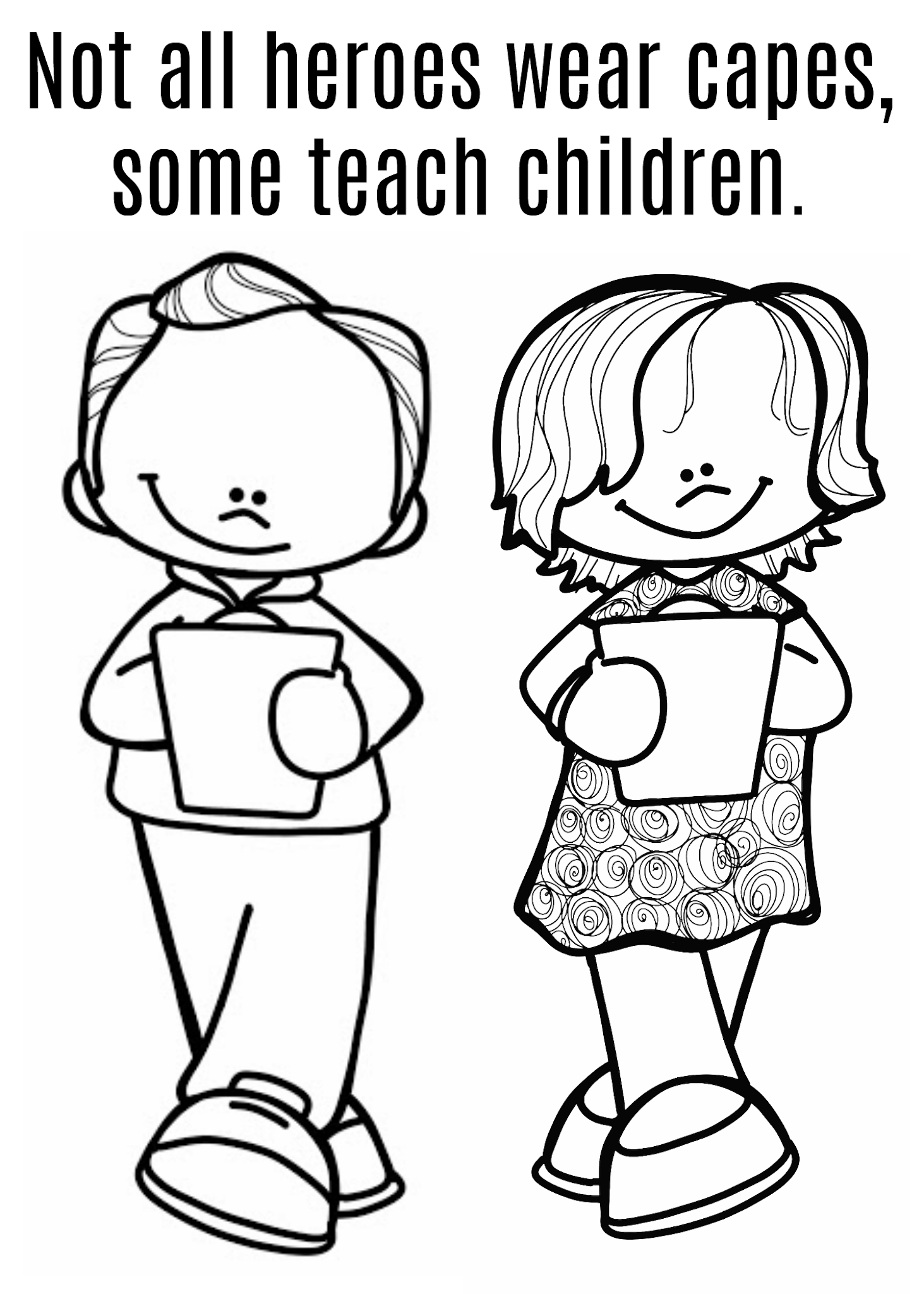 Teacher Free Coloring Page