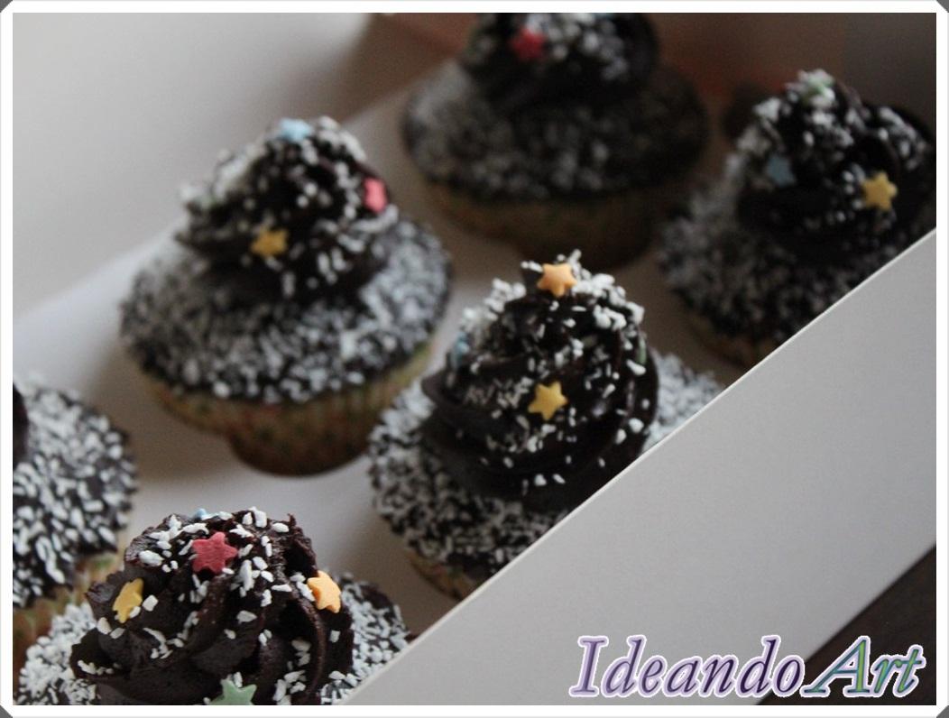 Caja cupcakes coco