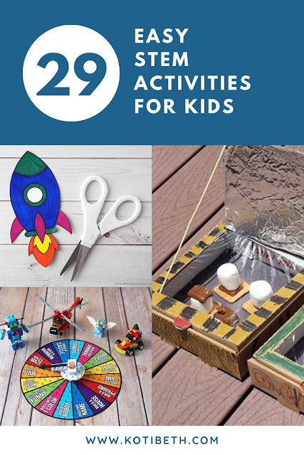29 Easy low prep or no prep stem activities for kids. This has science experiments with kids for homeschool, preschool, elementary, middle school, and high school separated by age. Inclues at home for kids activities with LEGO, weather, engineering, and more.  Science experiments kids easy at home for kids. #stem #science #kids #homeschool