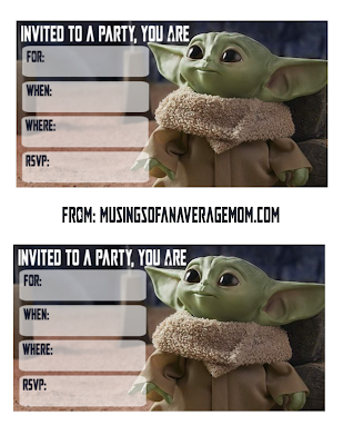 free baby yoda party printables