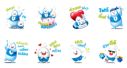 Line Stickers Bla Happy Life Free Download