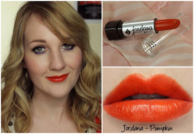 Jordana Pumpkin lipstick swatch