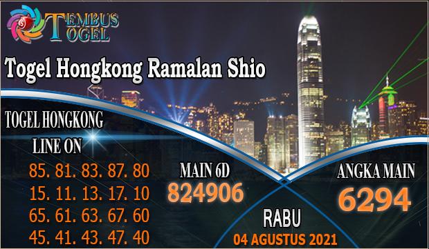 Togel Hongkong Ramalan Shio - Rabu 04 Agustus 2021 Tembus Togel