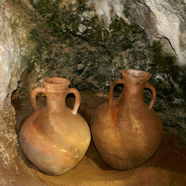2,000-year-old pottery vessels salvaged intact from cave in northern Israel