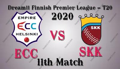Who will win ECC vs SKK 11th T20I Match