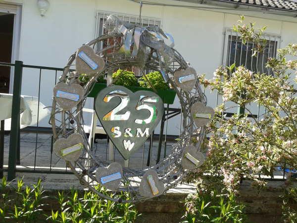 Silberhochzeit dekoration am haus deneme ama l for Silberhochzeit deko ideen