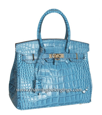 cb40e3fa21b2 Hermes Alligator Birkin 30 Brighton Bag with golden hardware Features: