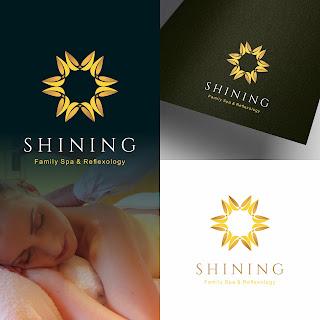 Desain logo family spa shining