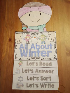 winter flip book plus a few winter FREEBIES- blog post highlighting hands-on activities for kids