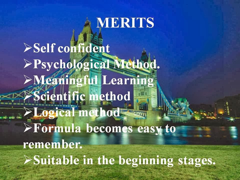 METHODS OF TEACHING MATHEMATICS: Module 1: Inductive Method