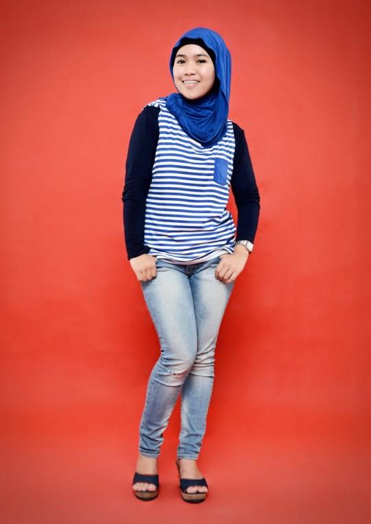 model IGO konsep foto hijab dalam ruangan dengan tips sederhana ligthing terbaru