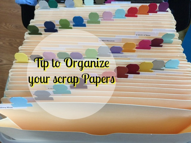 Tip to Organize Scrap Paper, Stamping room organize, S,tampin' Up! Circle Tab Punch