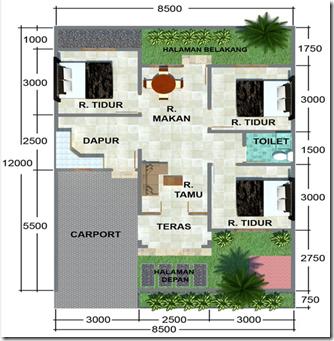 gambar rumah modis update: Rumah Minimalis 10 X 12