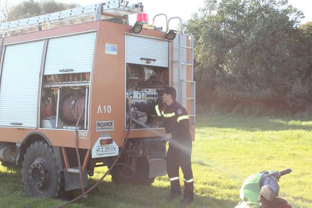 Πρέβεζα: Έγκαιρη παρέμβαση της Πυροσβεστικής σε φωτιά που εκδηλώθηκε στα αρχαία