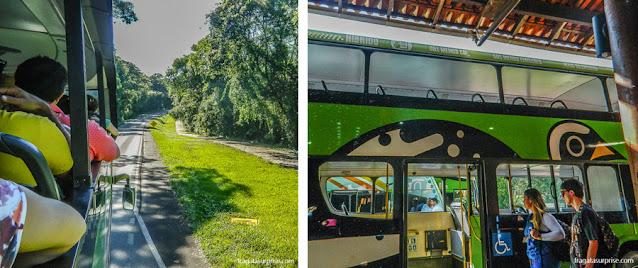 ônibus que percorre o Parque Nacional das Cataratas do Iguaçu