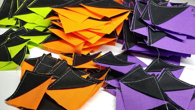 Making a bat quilt block
