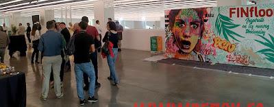 Graffiti en directo en Museu del Disseny de Barcelona