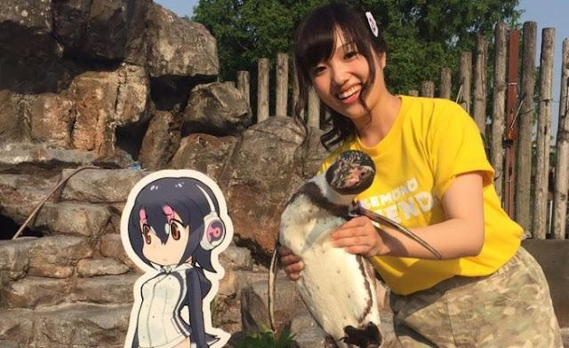 कार्टून करेक्टर को आवाज देने वाली चिकुटा इकुको इस पेंग्विन से मिलने आईं